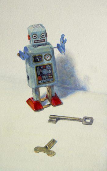Robo-stilllife_acryl 2010