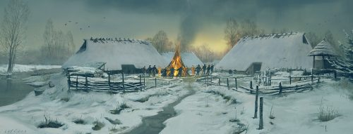 Bonfire in a Dutch Bronze age settlement
